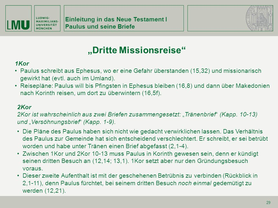 """Dritte Missionsreise"