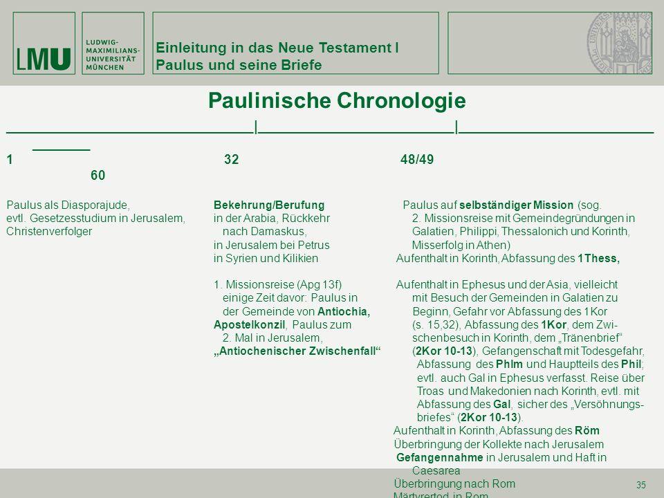 Paulinische Chronologie