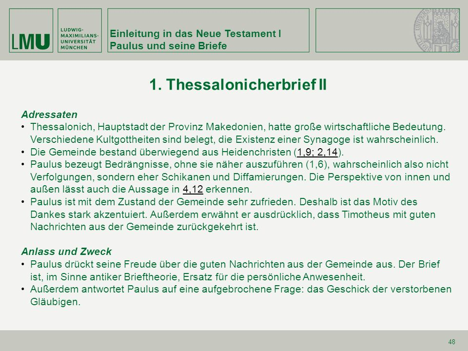 1. Thessalonicherbrief II