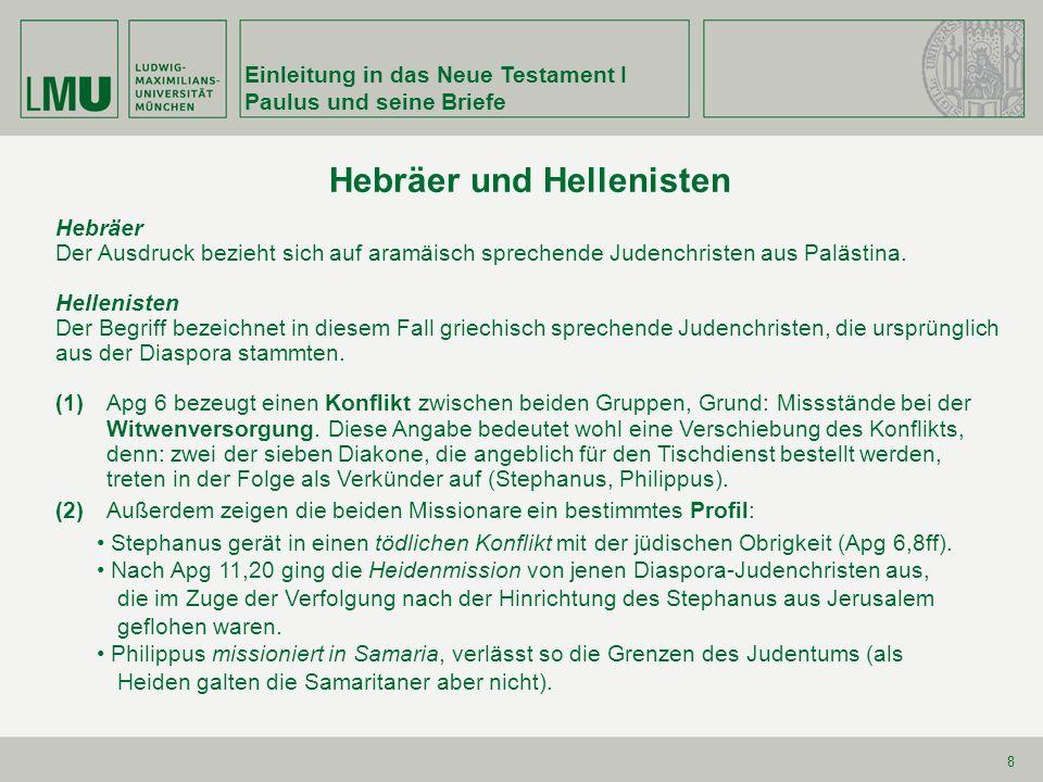 Hebräer und Hellenisten