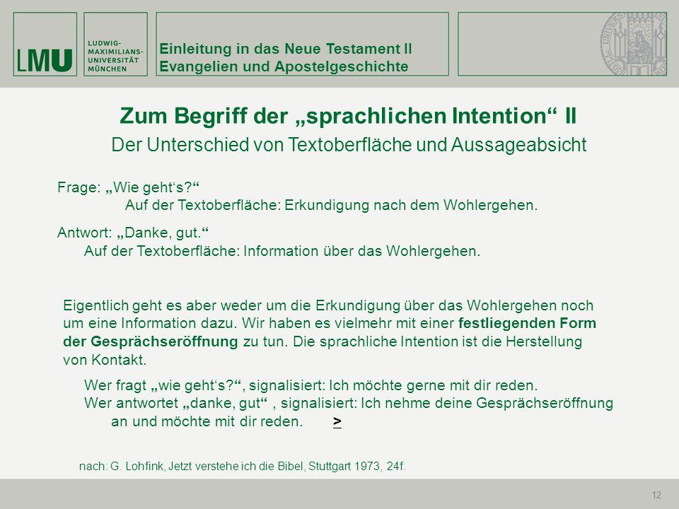 """Zum Begriff der """"sprachlichen Intention II"""