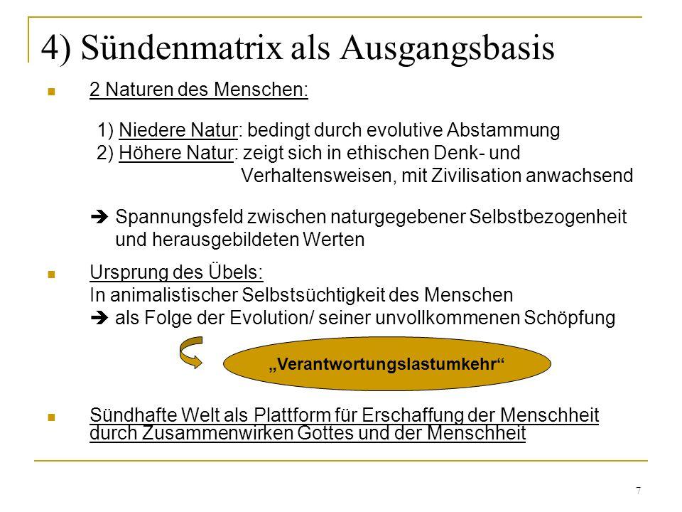 4) Sündenmatrix als Ausgangsbasis