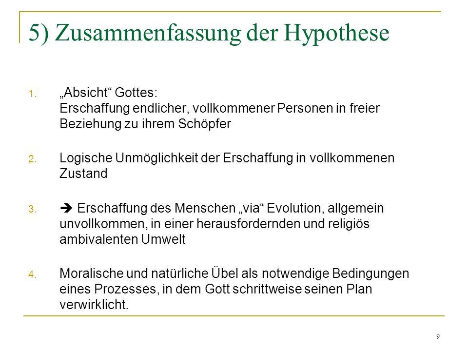 5) Zusammenfassung der Hypothese