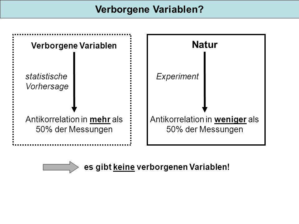 Verborgene Variablen Natur