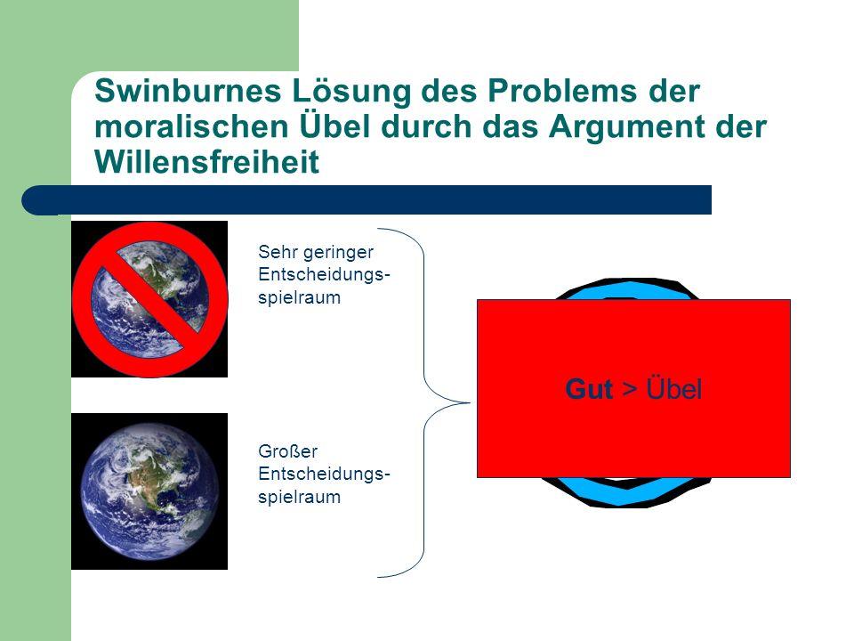 Swinburnes Lösung des Problems der moralischen Übel durch das Argument der Willensfreiheit