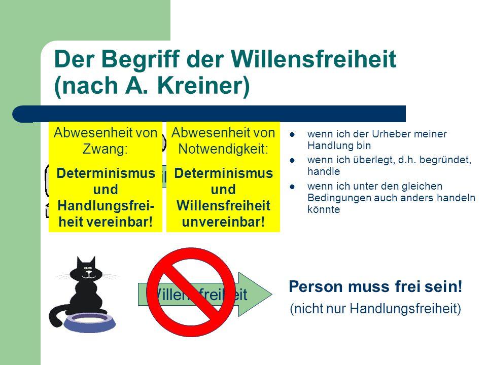 Der Begriff der Willensfreiheit (nach A. Kreiner)