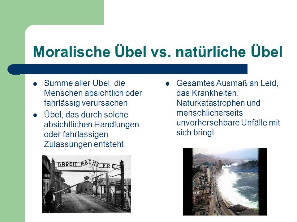 Moralische Übel vs. natürliche Übel