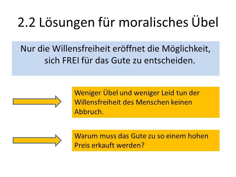 2.2 Lösungen für moralisches Übel