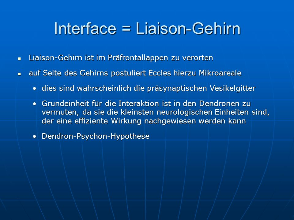 Interface = Liaison-Gehirn