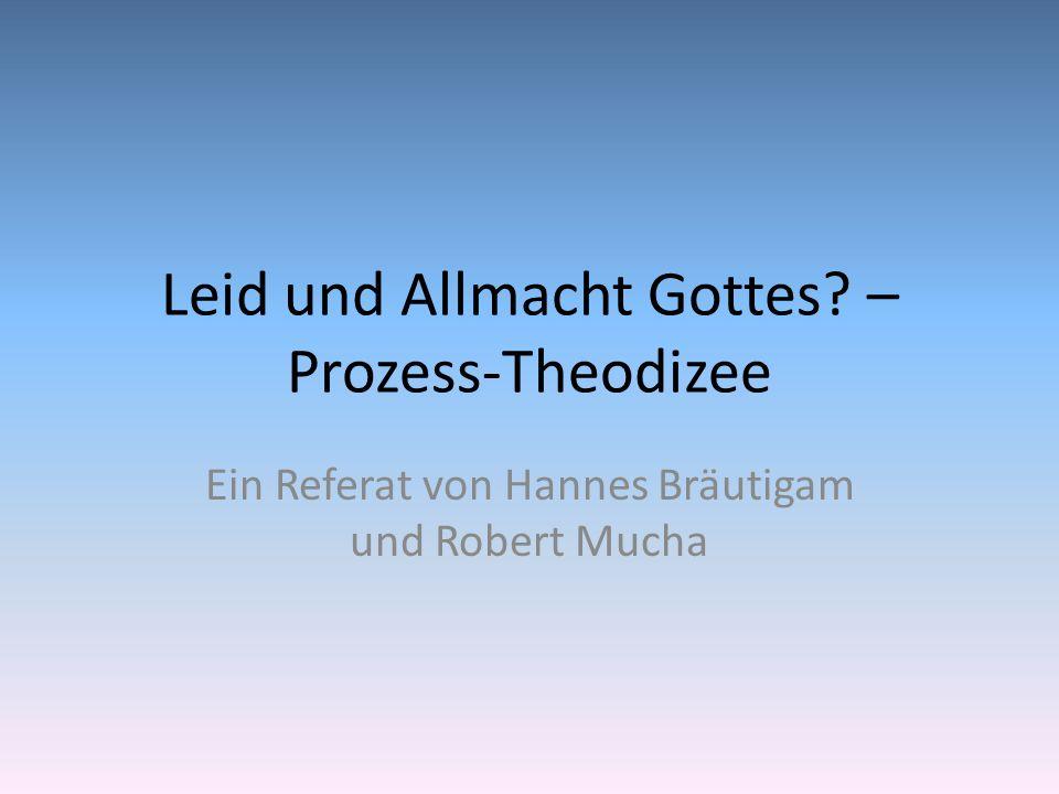 Leid und Allmacht Gottes – Prozess-Theodizee