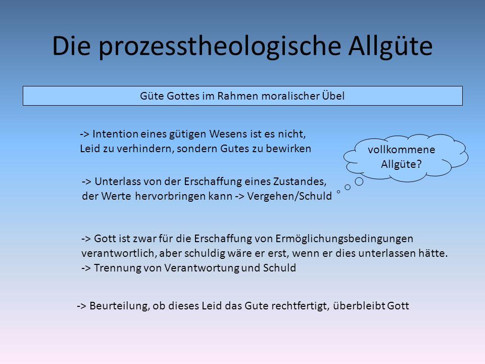 Die prozesstheologische Allgüte