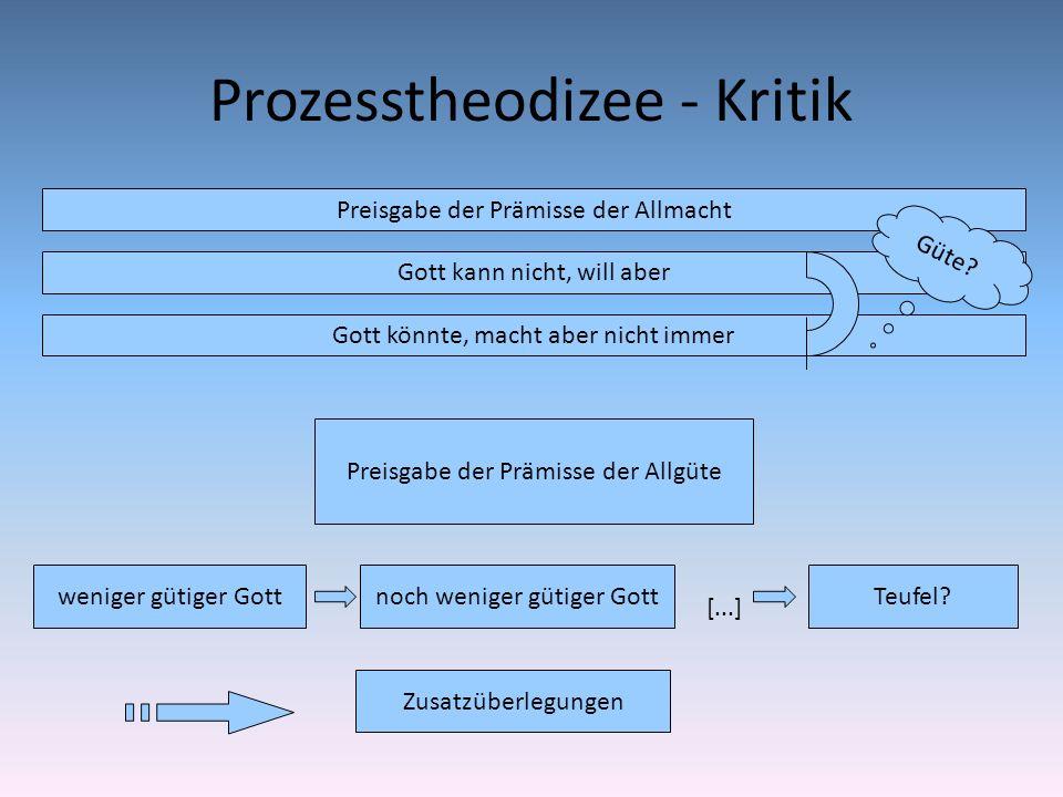 Prozesstheodizee - Kritik