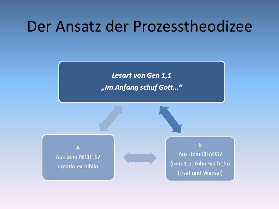 Der Ansatz der Prozesstheodizee