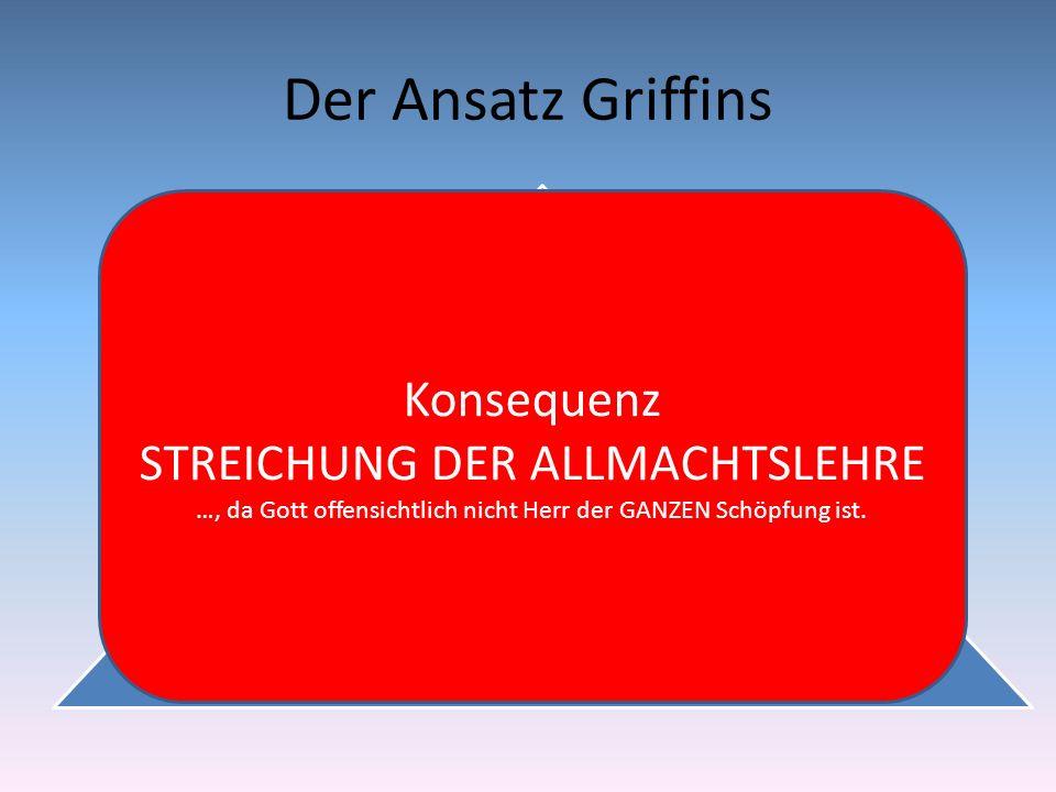Der Ansatz Griffins Konsequenz STREICHUNG DER ALLMACHTSLEHRE