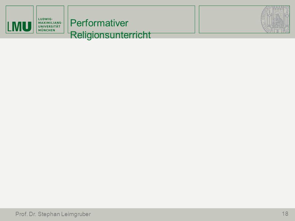 Performativer Religionsunterricht