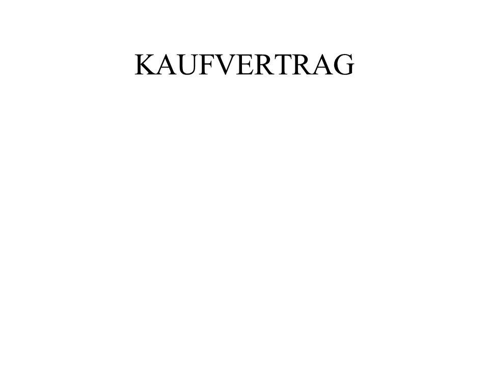 KAUFVERTRAG
