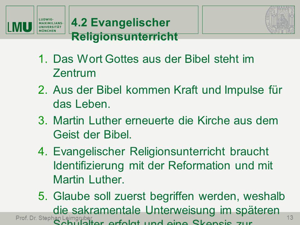 4.2 Evangelischer Religionsunterricht