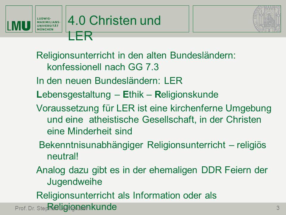 4.0 Christen und LER