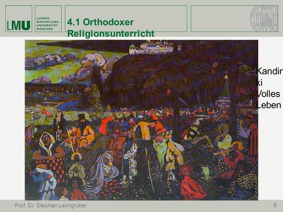 4.1 Orthodoxer Religionsunterricht