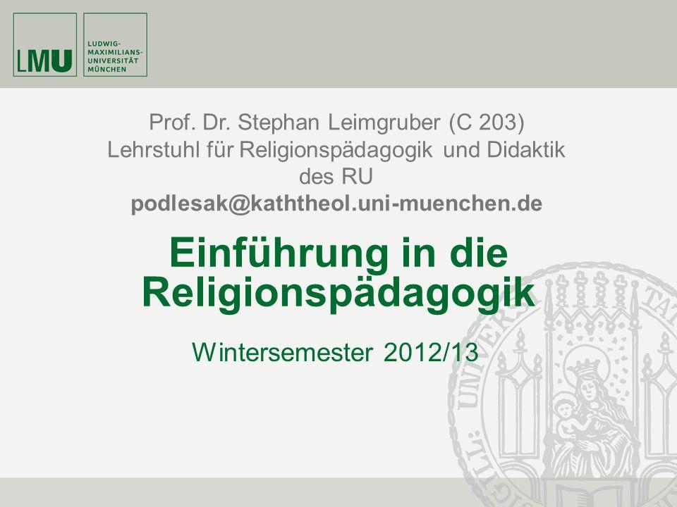 Einführung in die Religionspädagogik