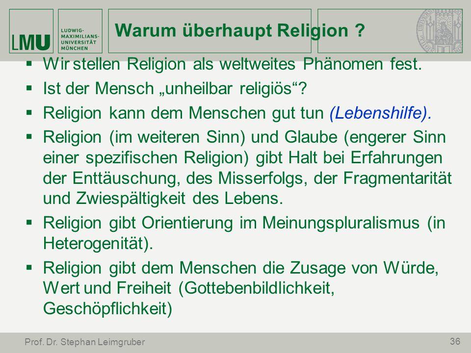 Warum überhaupt Religion