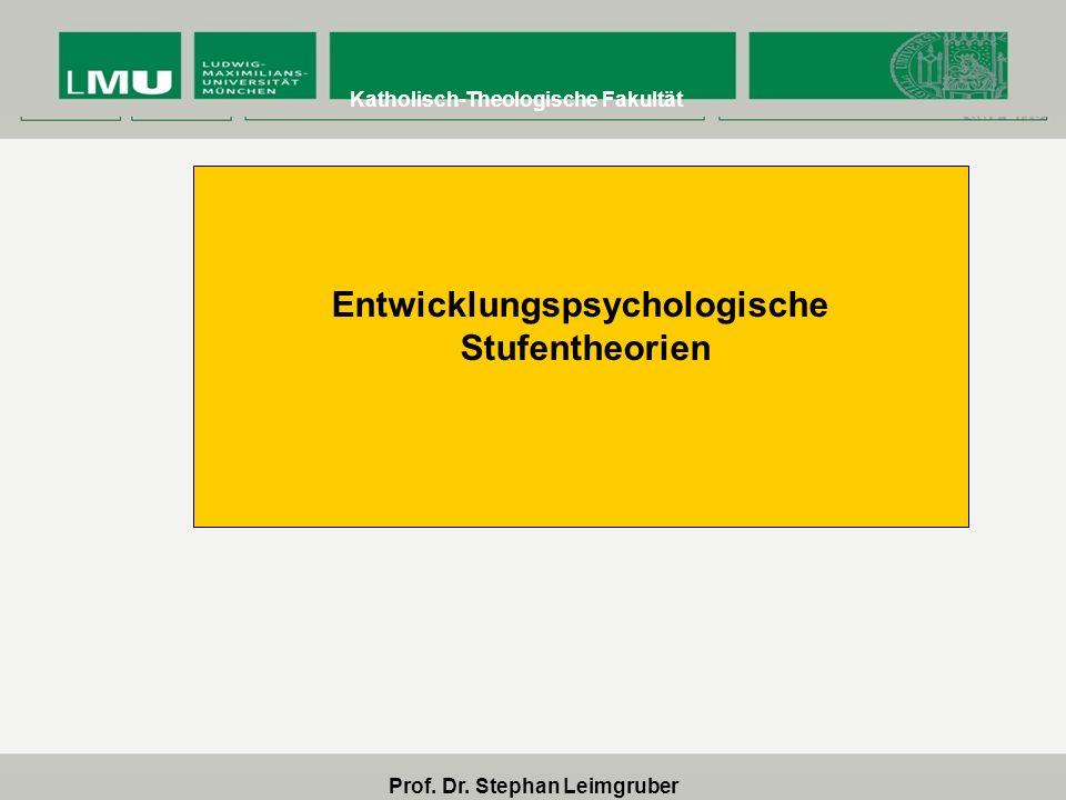 Entwicklungspsychologische Prof. Dr. Stephan Leimgruber