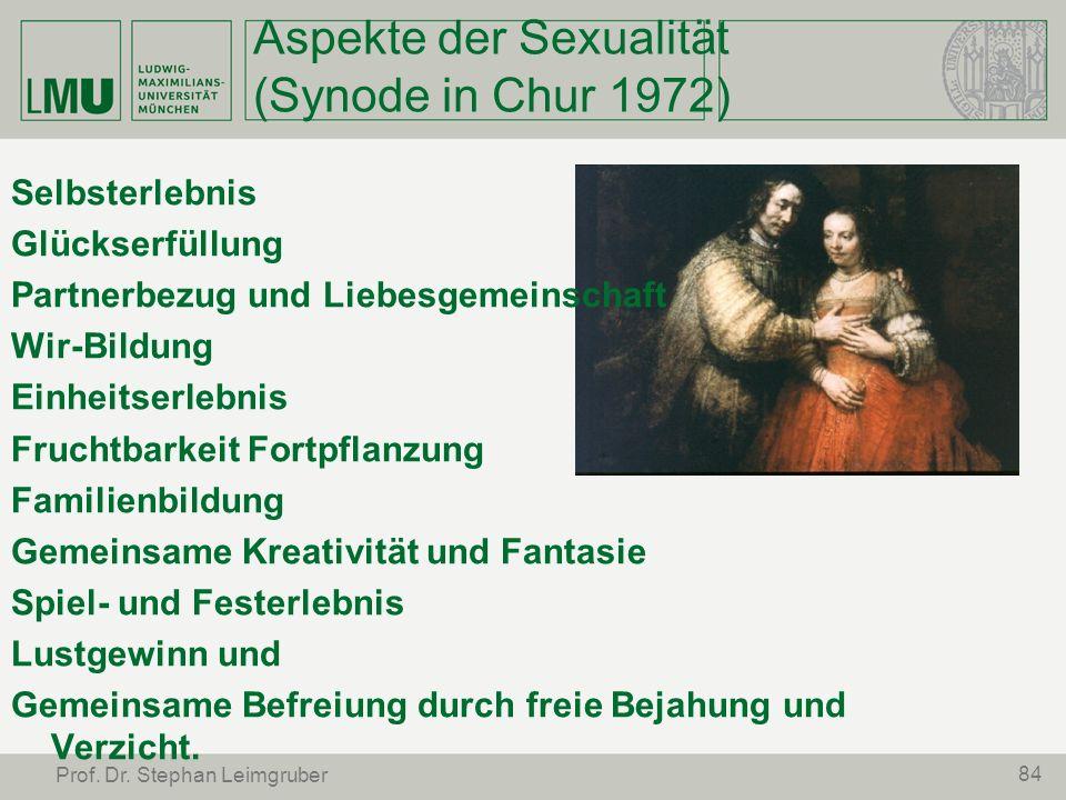 Aspekte der Sexualität (Synode in Chur 1972)