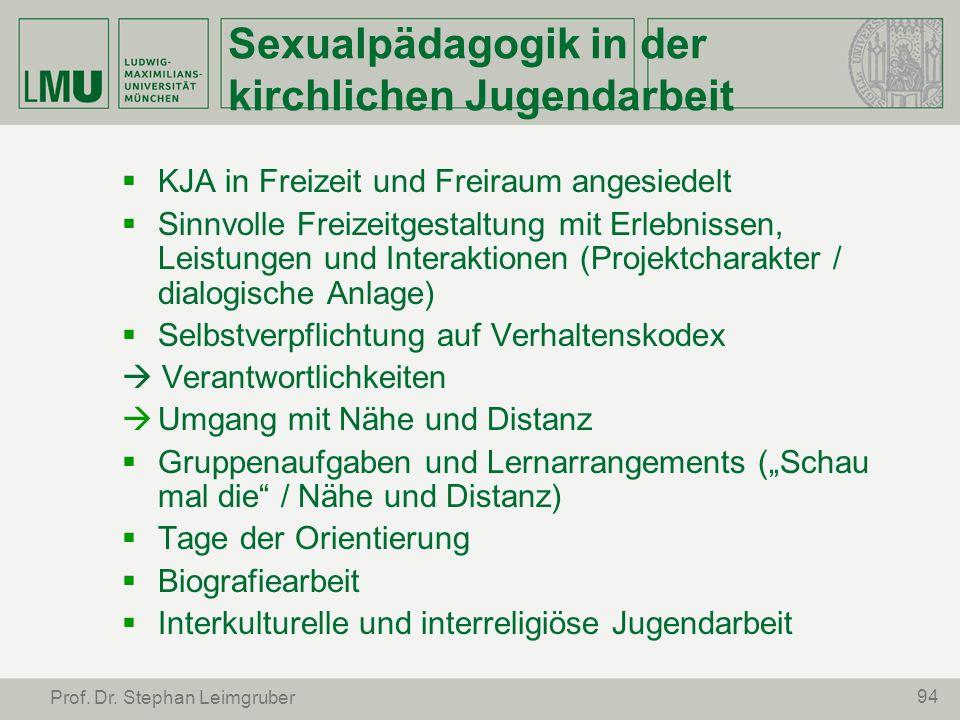 Sexualpädagogik in der kirchlichen Jugendarbeit