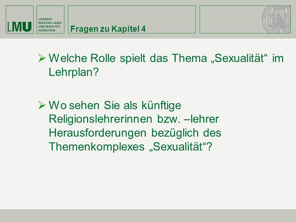 """Welche Rolle spielt das Thema """"Sexualität im Lehrplan"""