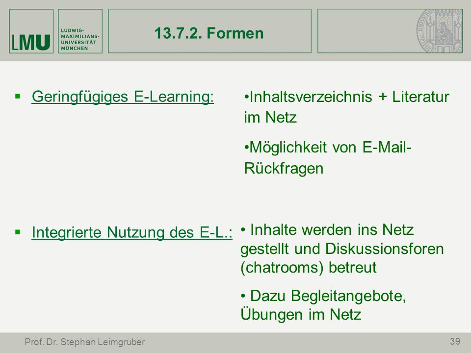 Geringfügiges E-Learning: