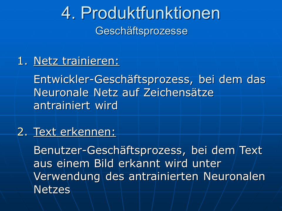 4. Produktfunktionen Geschäftsprozesse Netz trainieren: