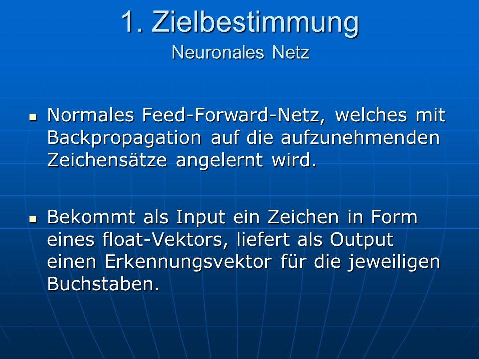 1. Zielbestimmung Neuronales Netz