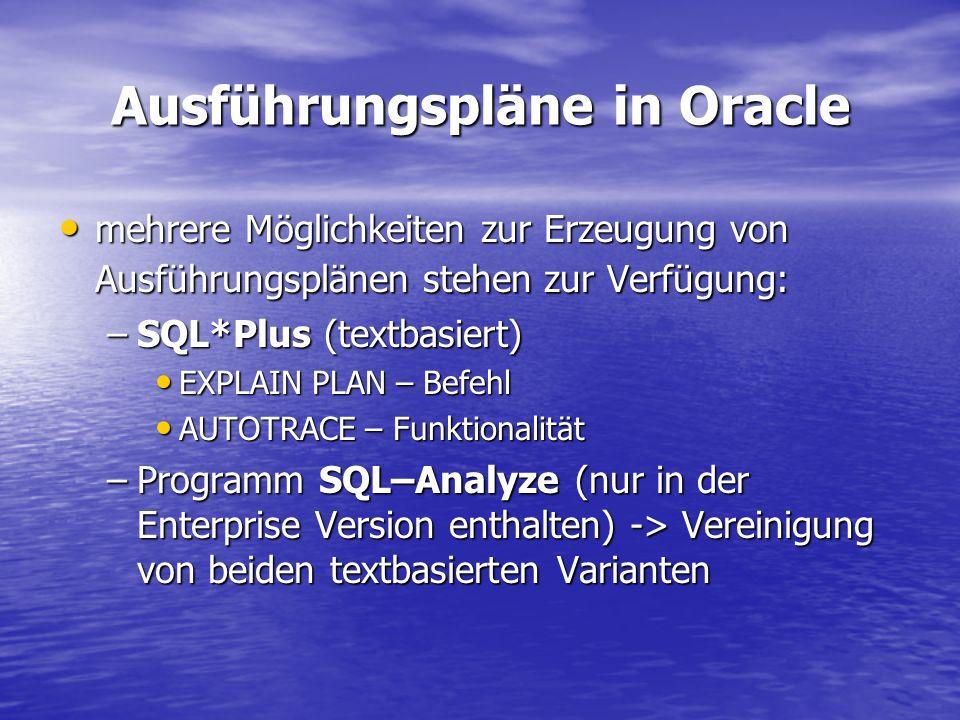 Ausführungspläne in Oracle