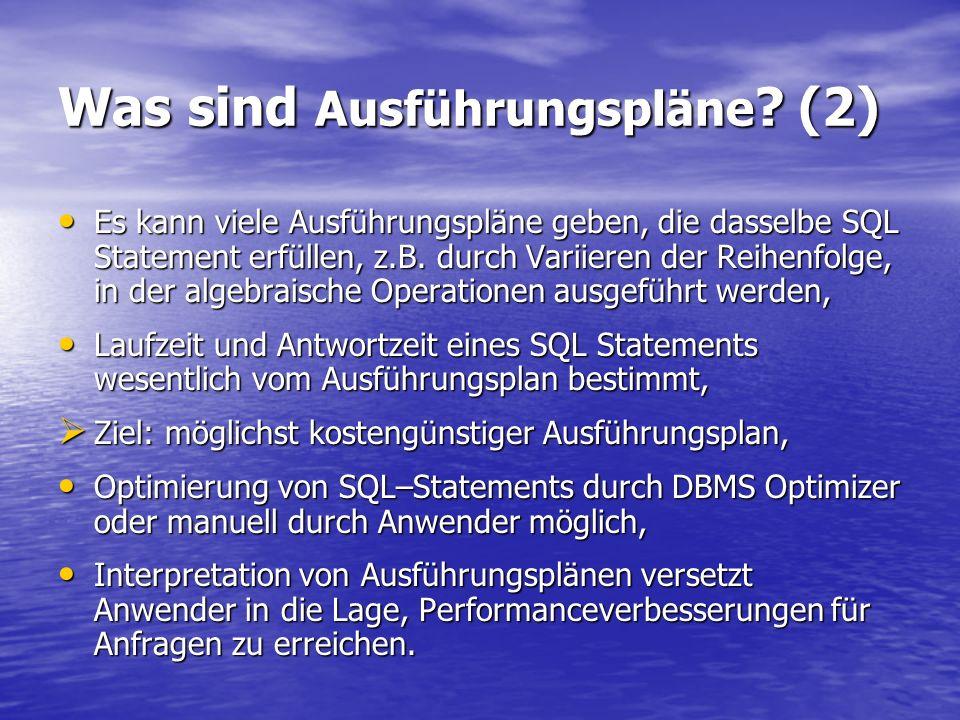 Was sind Ausführungspläne (2)
