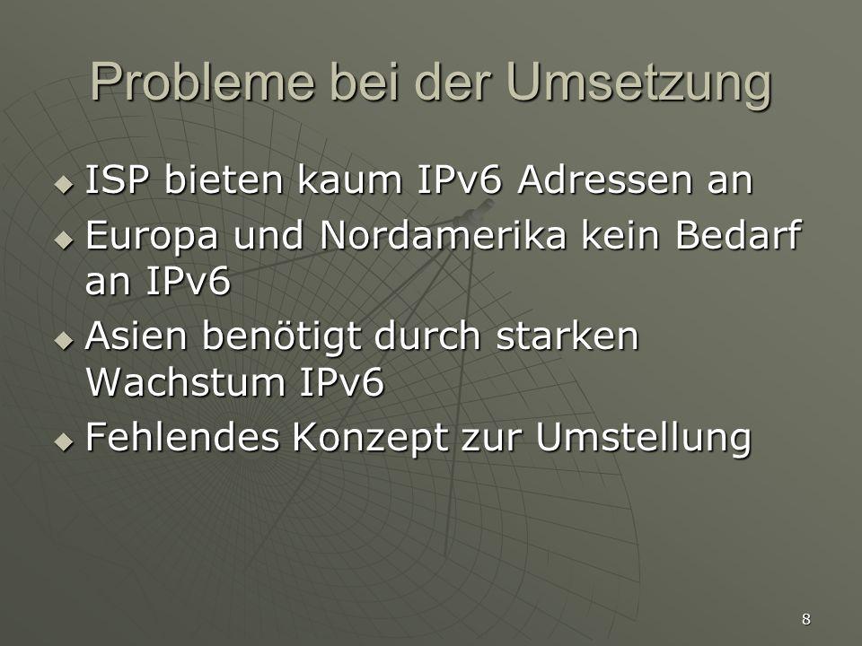 Probleme bei der Umsetzung