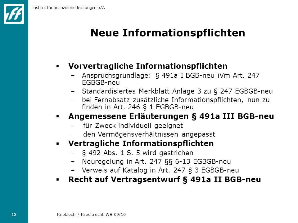 Neue Informationspflichten