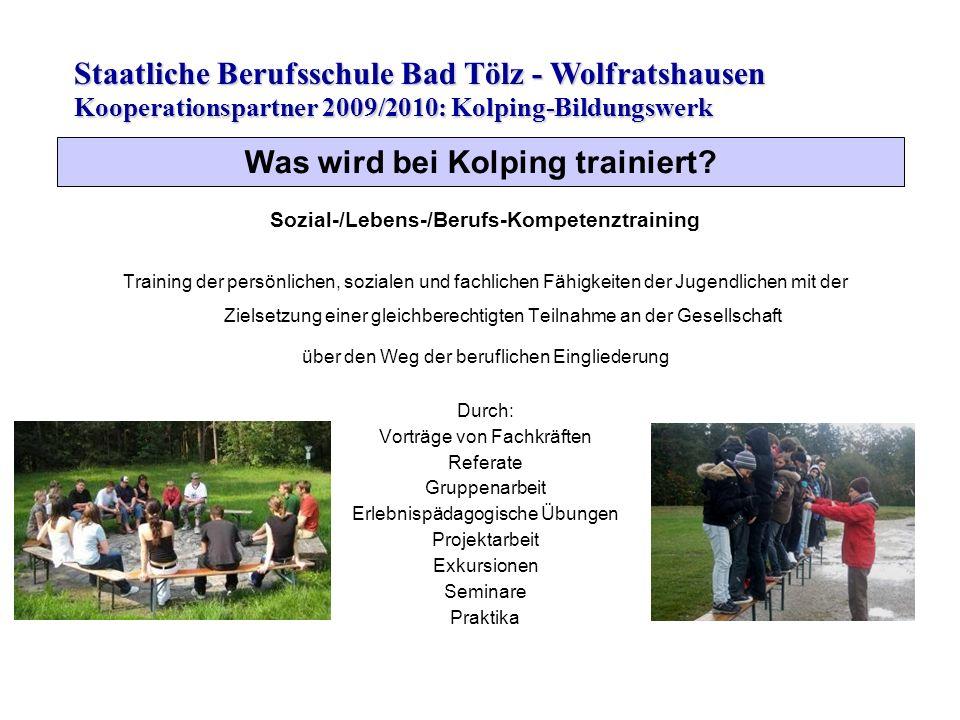 Was wird bei Kolping trainiert