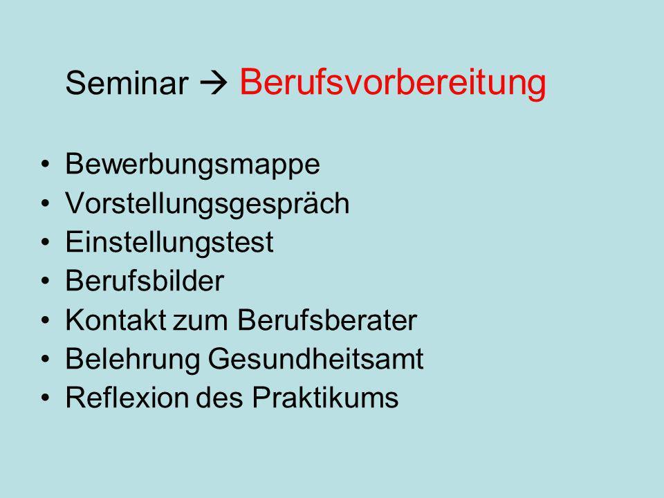 Seminar  Berufsvorbereitung