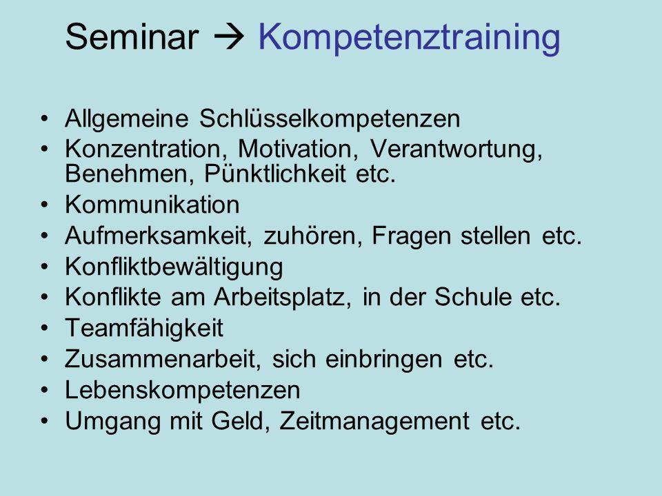 Seminar  Kompetenztraining