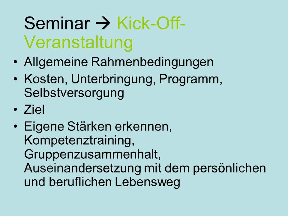 Seminar  Kick-Off-Veranstaltung