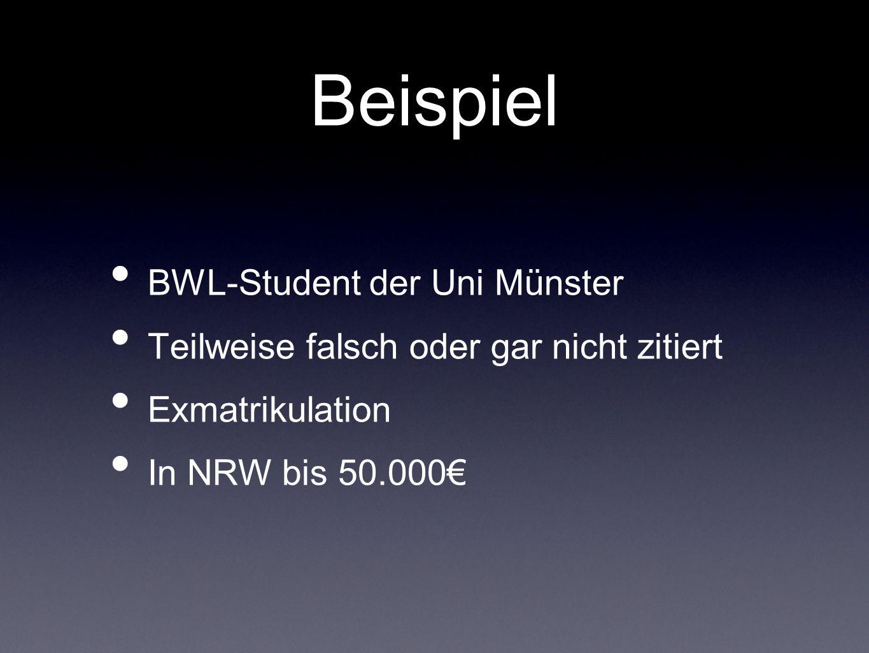 Beispiel BWL-Student der Uni Münster