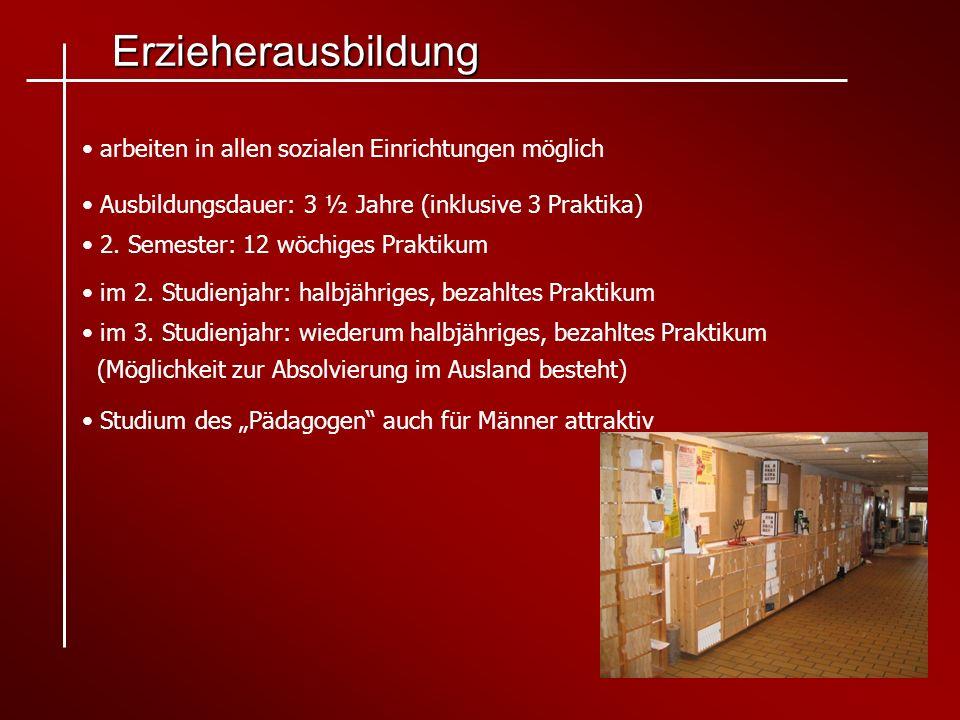 Erzieherausbildung arbeiten in allen sozialen Einrichtungen möglich