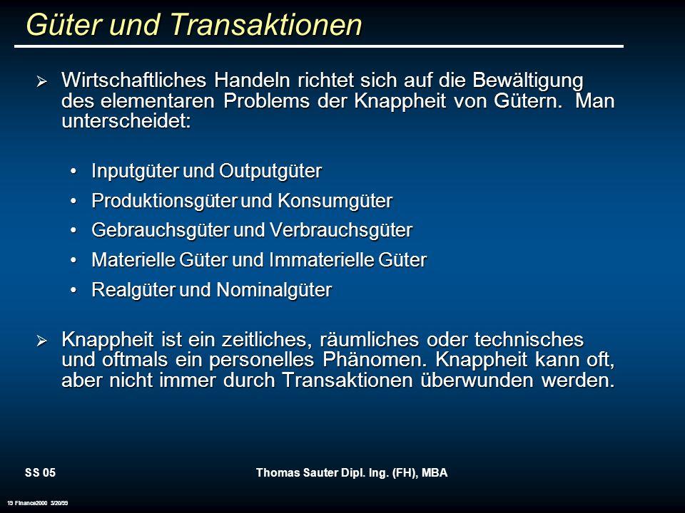Güter und Transaktionen