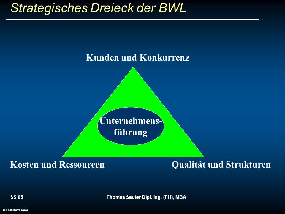 Strategisches Dreieck der BWL