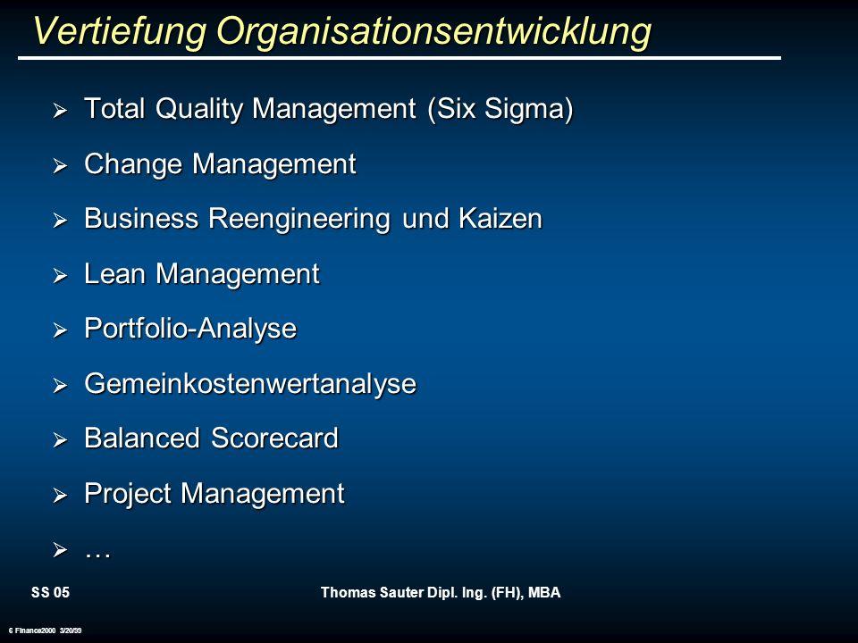 Vertiefung Organisationsentwicklung