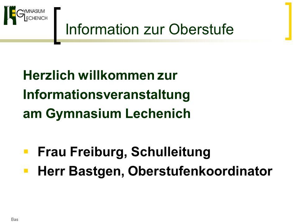 Information zur Oberstufe