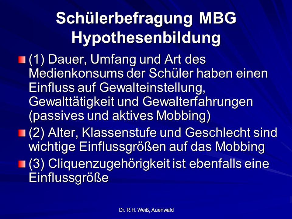 Schülerbefragung MBG Hypothesenbildung