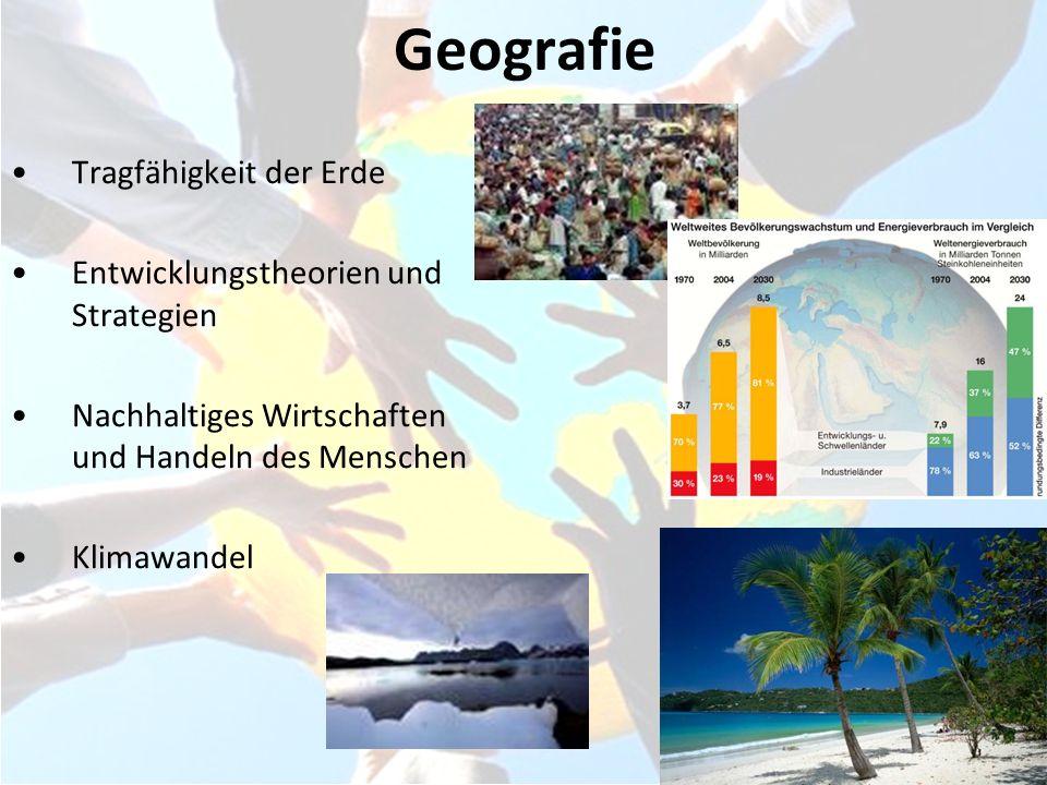 Geografie Tragfähigkeit der Erde Entwicklungstheorien und Strategien
