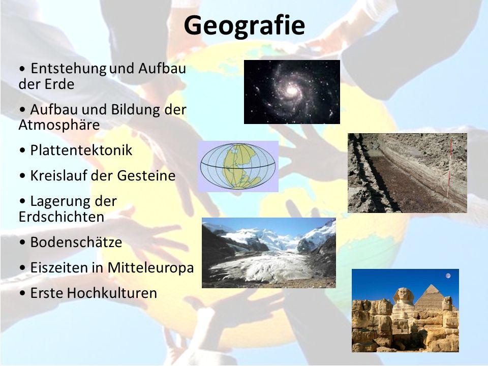 Geografie Aufbau und Bildung der Atmosphäre Plattentektonik