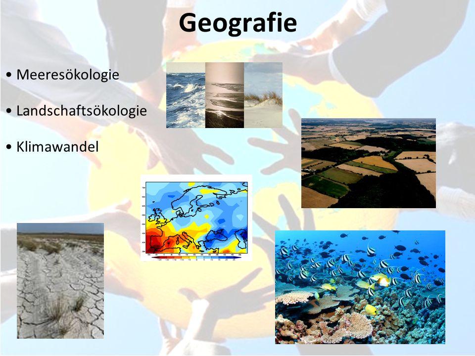 Geografie Meeresökologie Landschaftsökologie Klimawandel